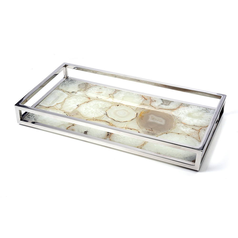Natural Agate Rectangular Vanity Tray 7653 Impulse