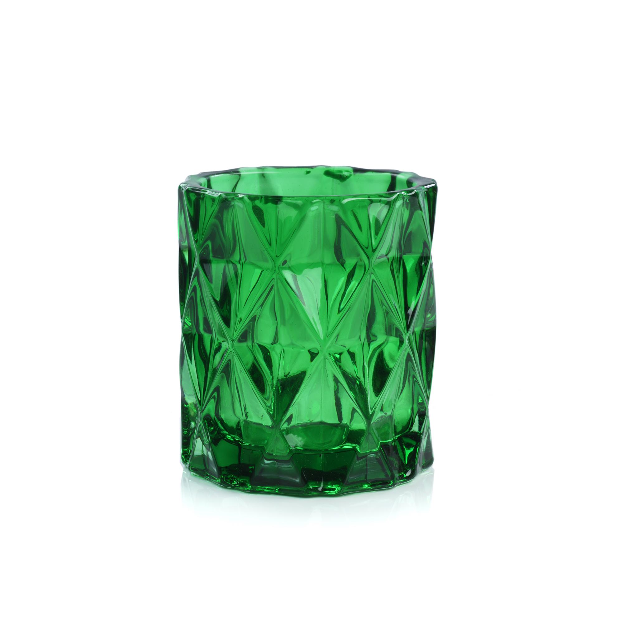 Sunset Glass Votive Candle Holder Small Green Impulse